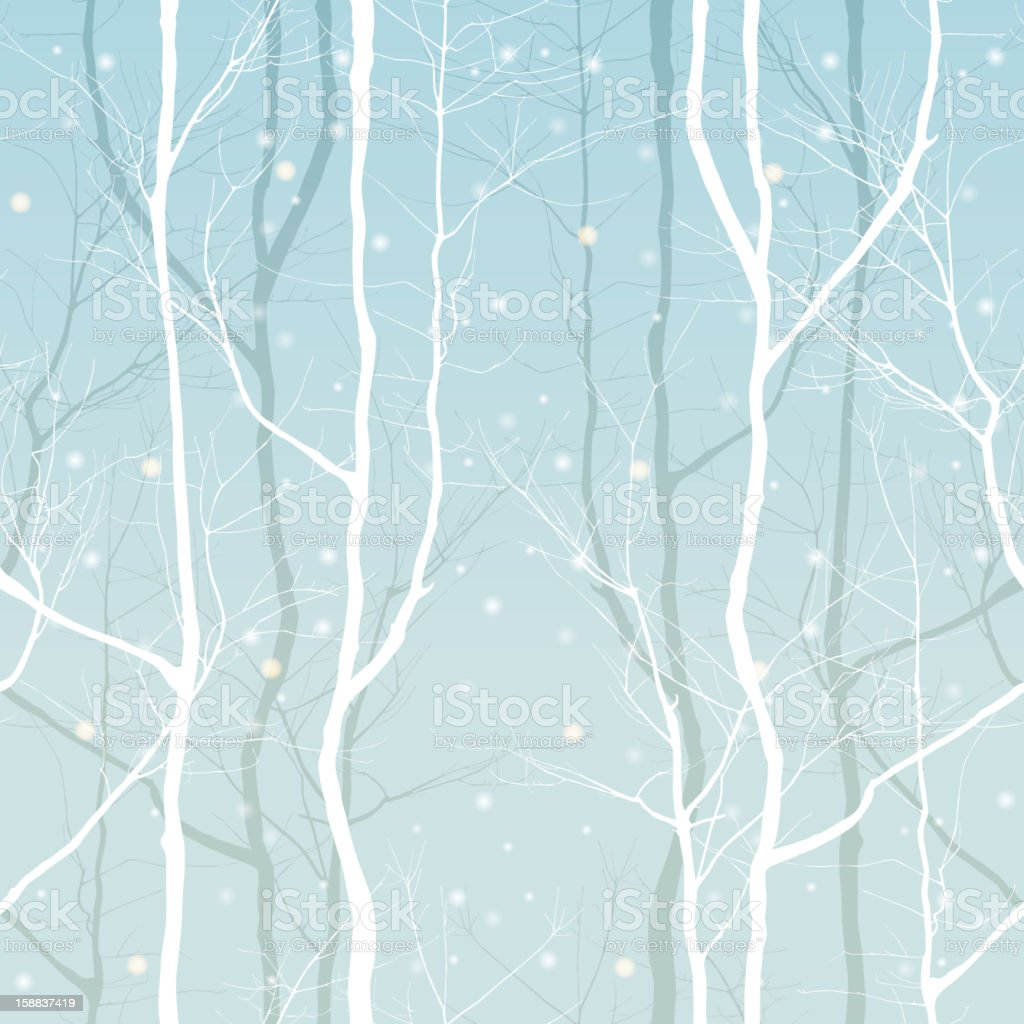 trees seamless vector art illustration