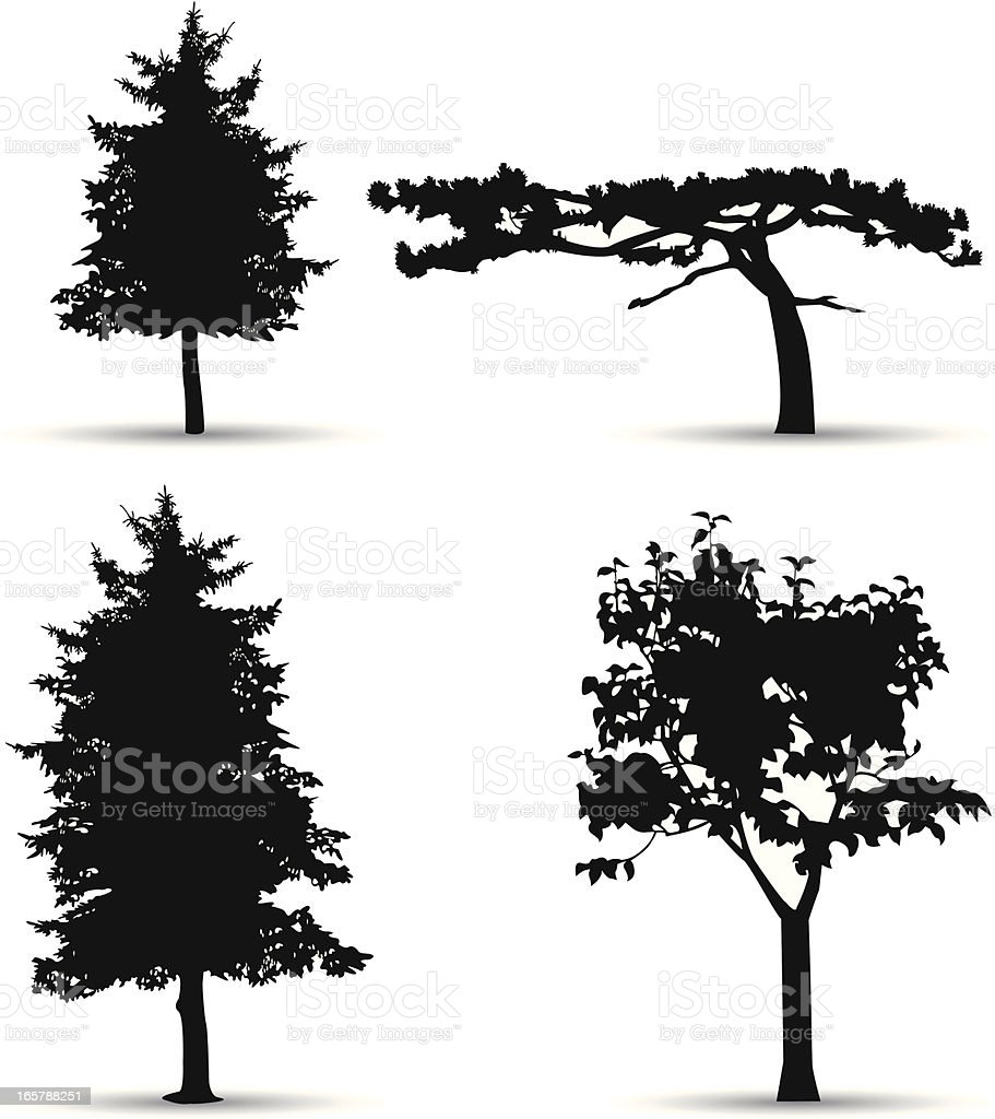 trees silhouette royalty-free stock vector art