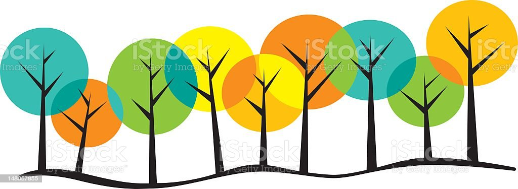 Trees royalty-free stock vector art