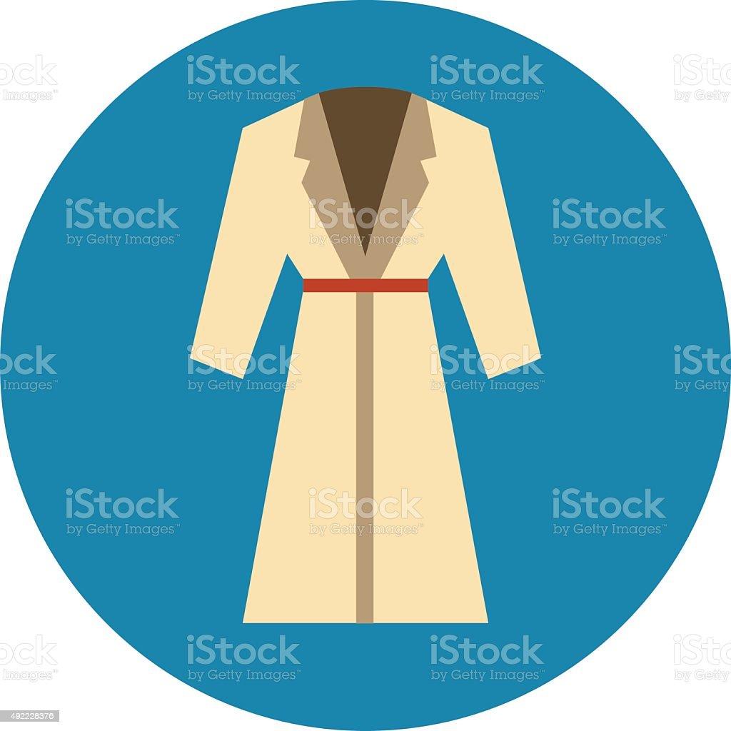 Trench Coat vector art illustration