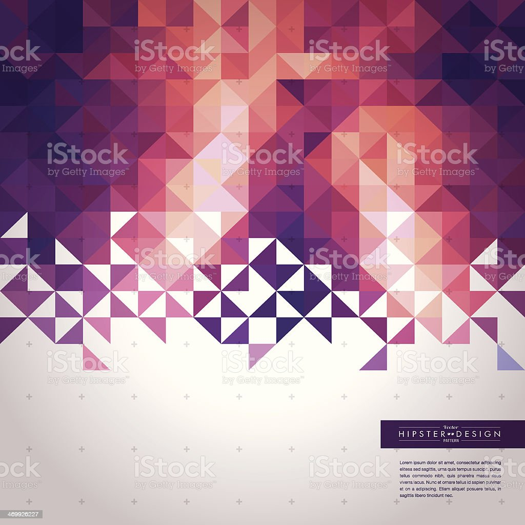 Trendy Abstract Geometric Hipster Background vector art illustration