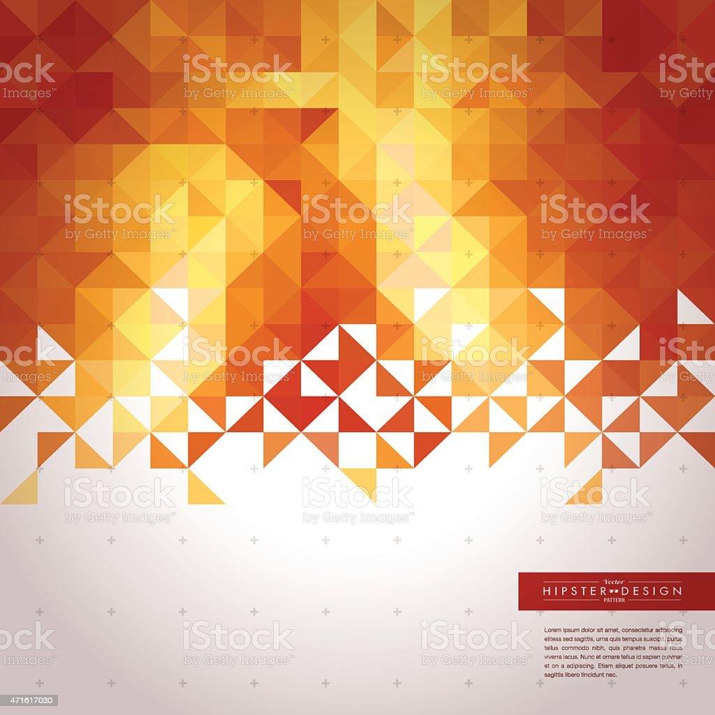 Trendy Abstract Golden Geometric Hipster Background vector art illustration