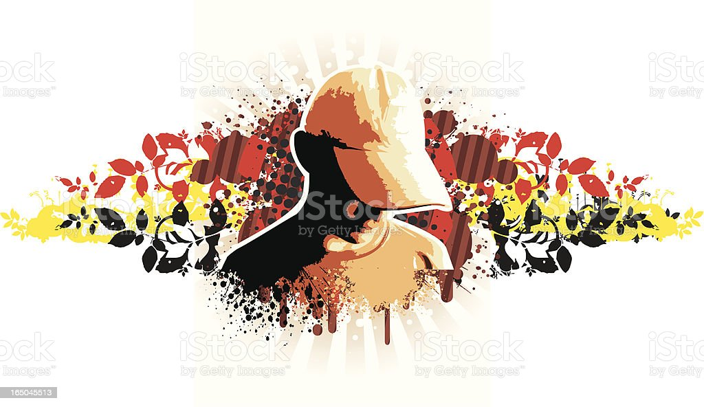 Trendy boy organic royalty-free stock vector art