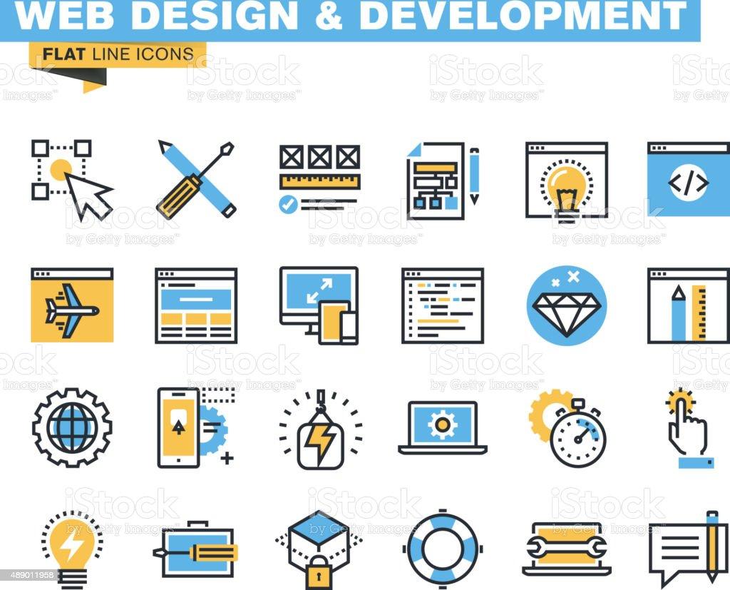 Moderno icono plano de envase para todos los diseñadores y a los desarrolladores illustracion libre de derechos libre de derechos