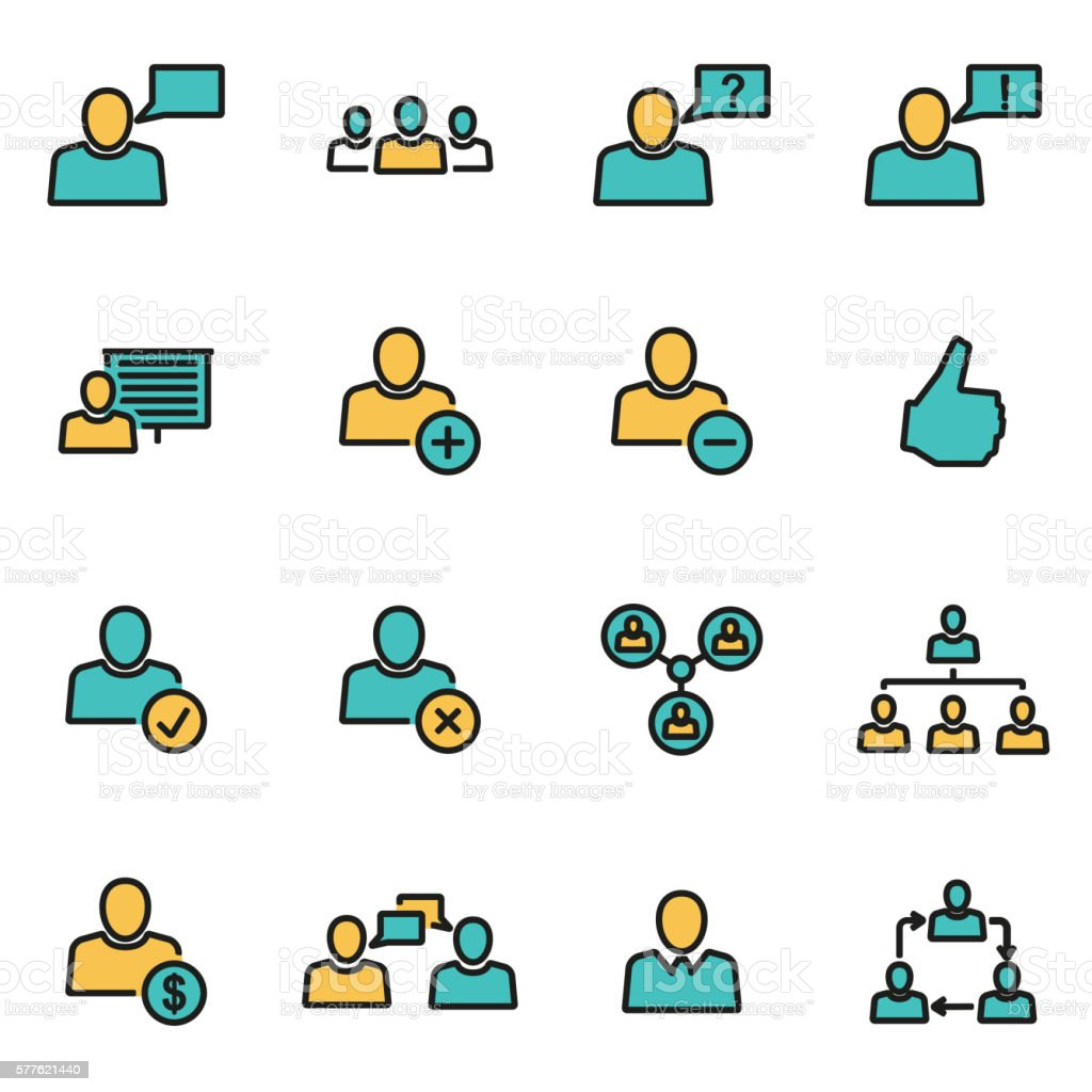 Trendy flat line icon pack for designers and developers. Vector vector art illustration