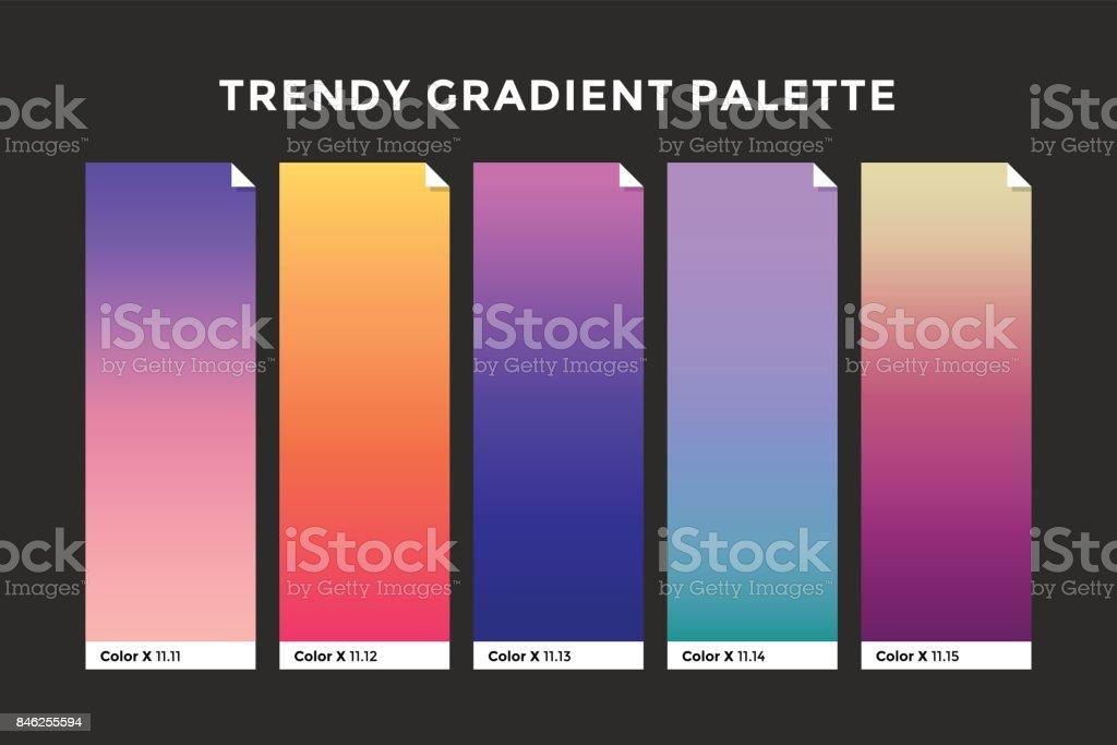 Trendy gradient swatches vector art illustration