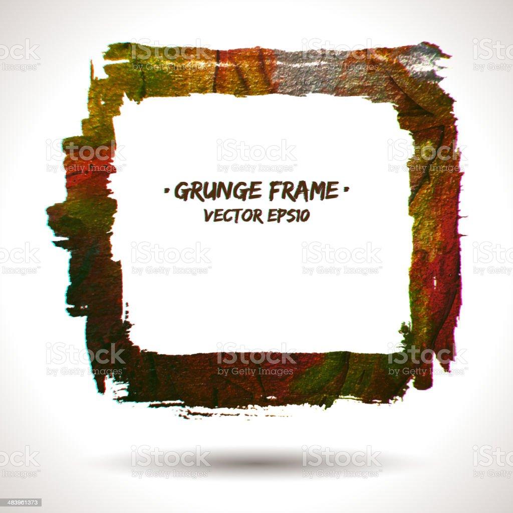 Trendy grunge vector frame royalty-free stock vector art