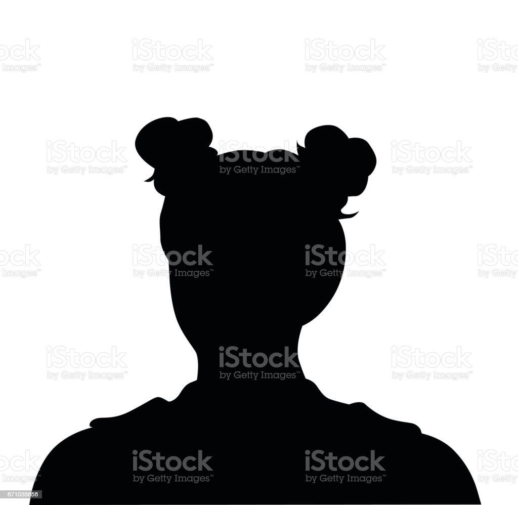 Trendy Hairdo vector art illustration