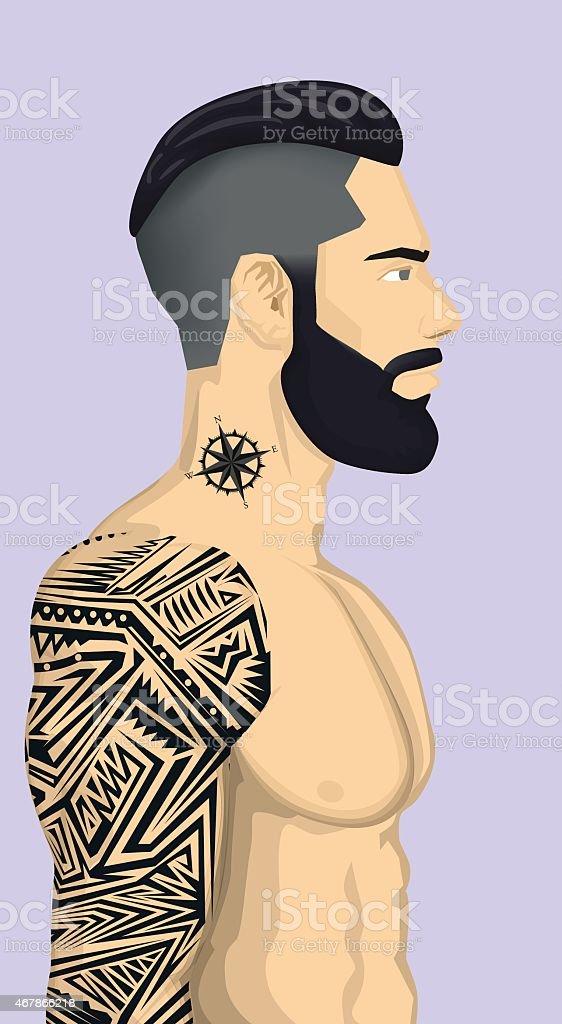 Bas de bikini tendance avec tatouage abstrait pour stock vecteur libres de droits libre de droits