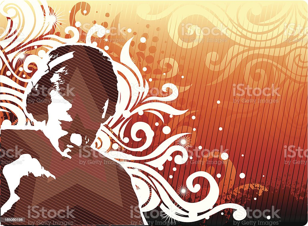 Trendy musical design royalty-free stock vector art