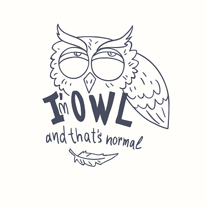 Owls To Draw Drawing Clip Art, Vector Images & Illustrations - iStock