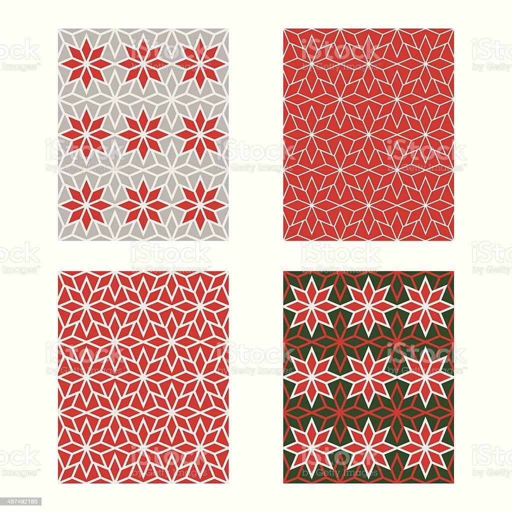 Trendy Scandinavian Seamless Pattern Set. Vector royalty-free stock vector art