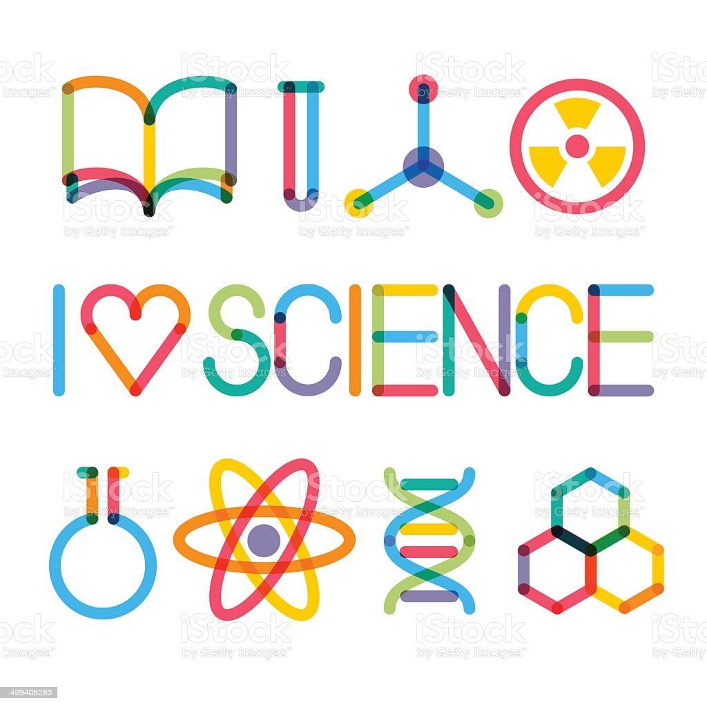 Trendy science icons vector art illustration