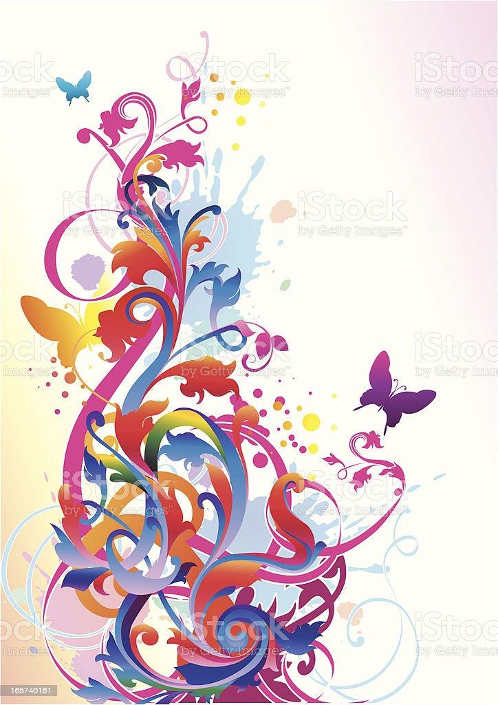 Trendy scroll vector art illustration