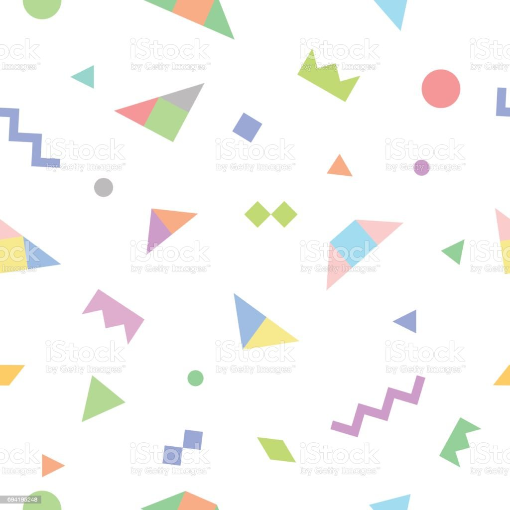 Trendy seamless pattern with geometric elements. vector art illustration