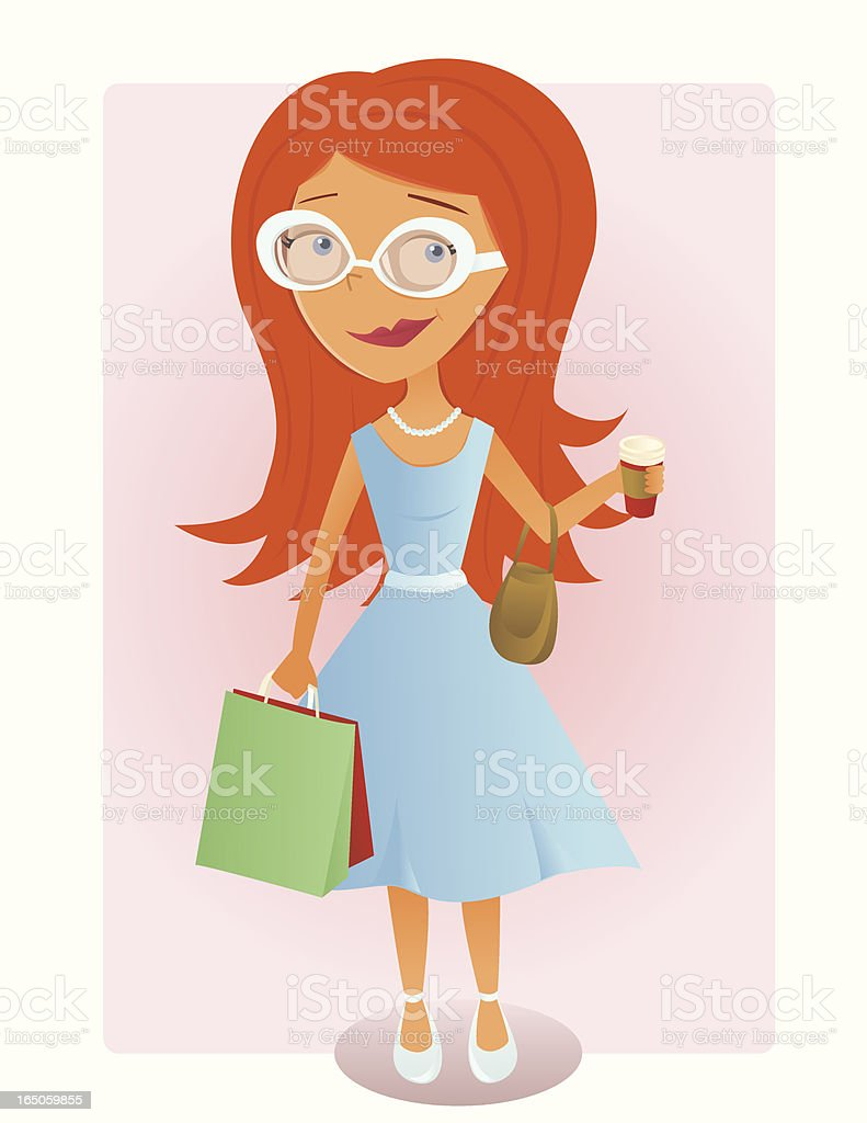 Trendy Shopper royalty-free stock vector art