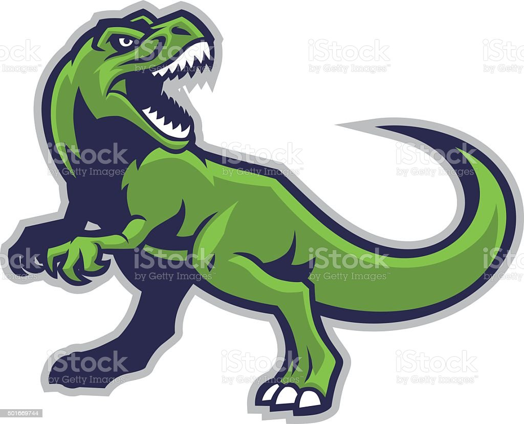 trex mascot vector art illustration