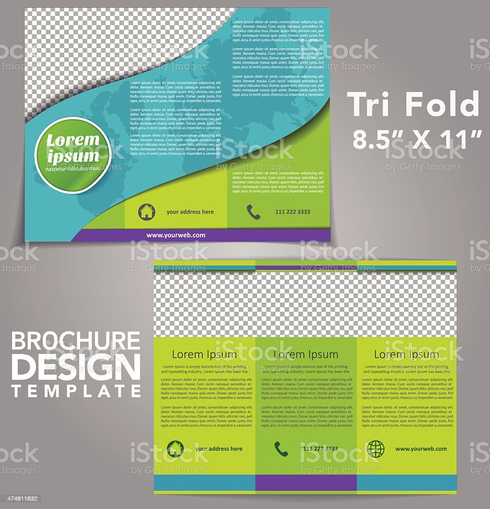 Tri Fold Brochure Vector Design vector art illustration