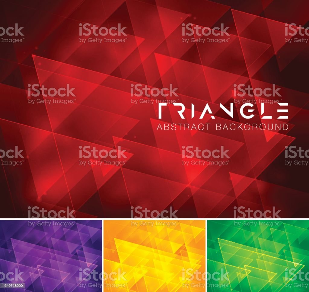 Triangle abstract background vector art illustration