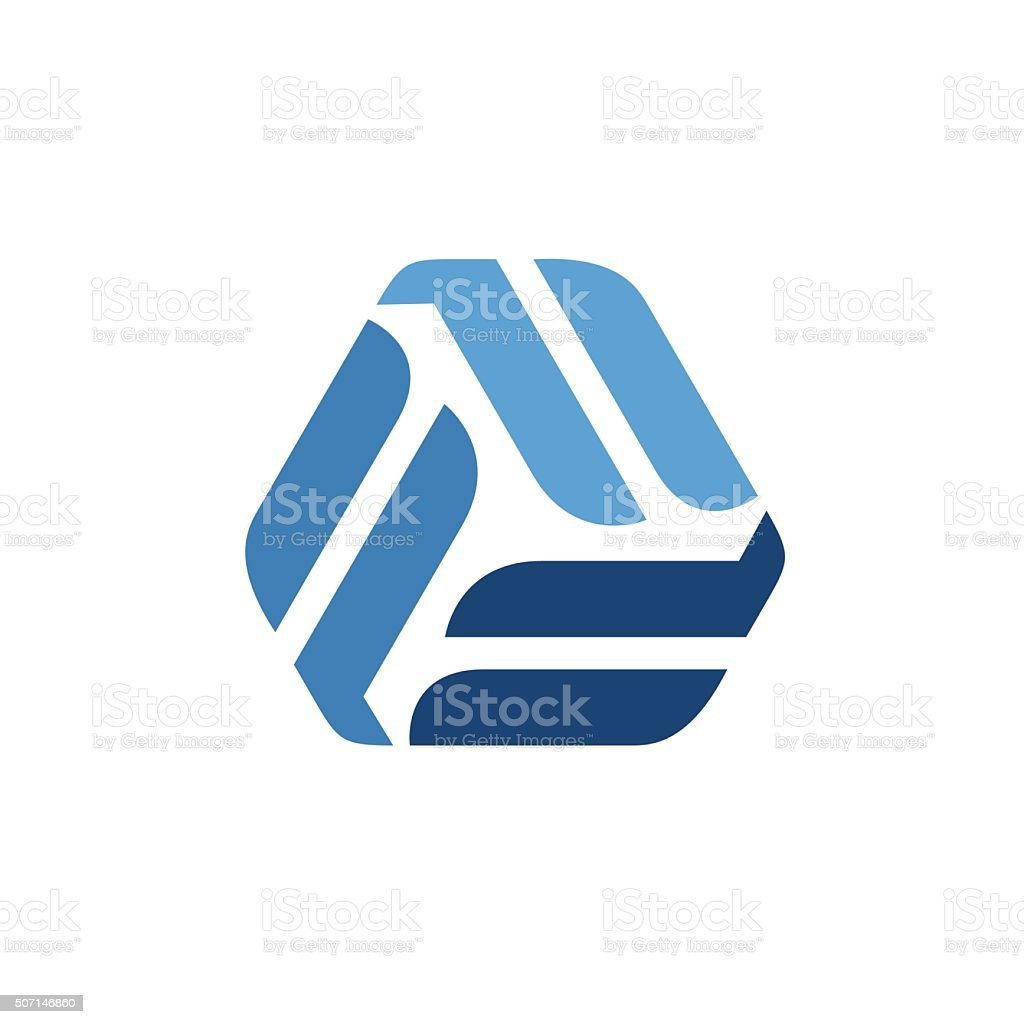 Triangle abstract infinity loop vector icon. vector art illustration