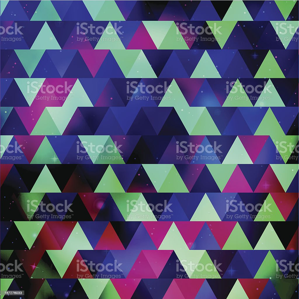 Triangle background with galaxy texture royalty-free stock vector art