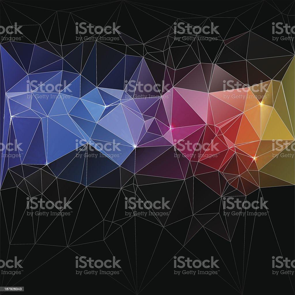 Conceito de design de triângulo mosaico de ilustração em vetor vetor e ilustração royalty-free royalty-free