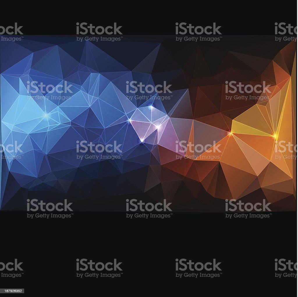 Triangle concept design Mosaic vector illustration royalty-free stock vector art