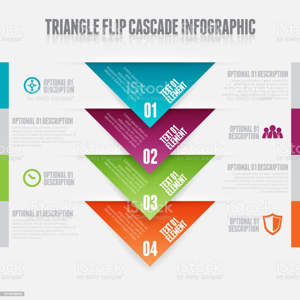 Triangle Flip Cascade vector art illustration