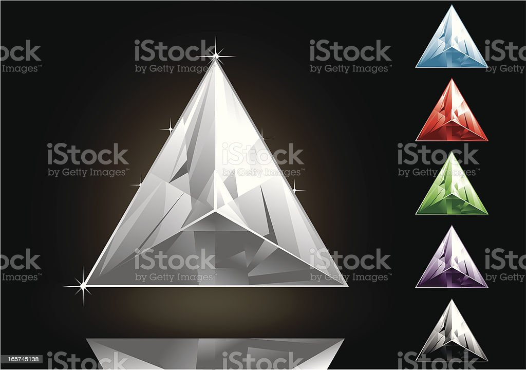 Triangle Gems royalty-free stock vector art