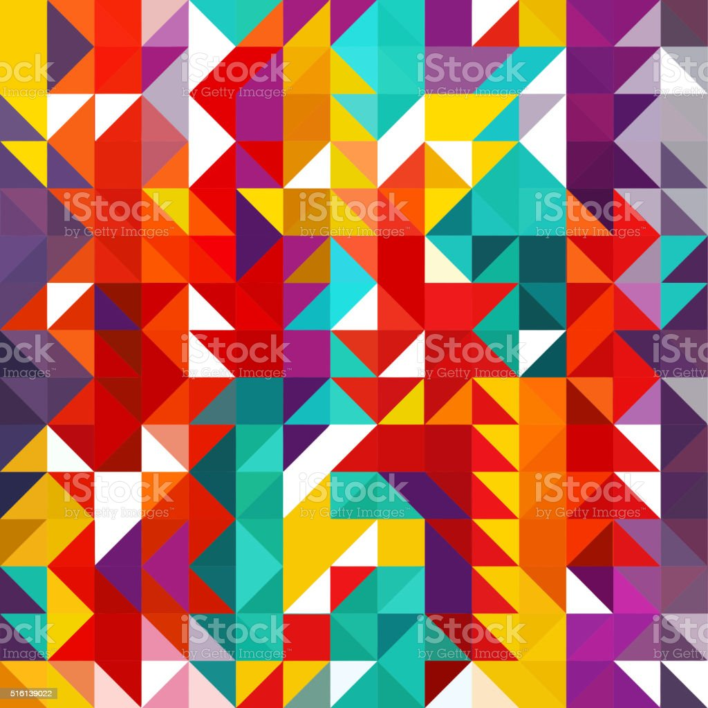 Triangle geometric shapes pattern. colorful vector art illustration