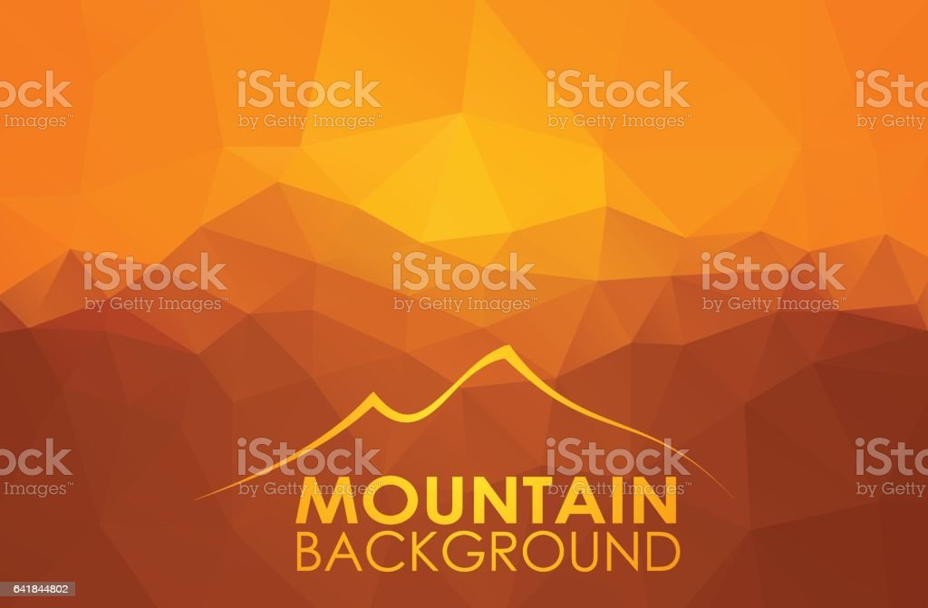 Triangle geometrical background with mountains vector art illustration