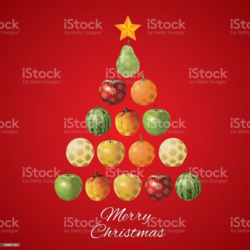 Triangle geometrical christmas ball. Vector stock photo