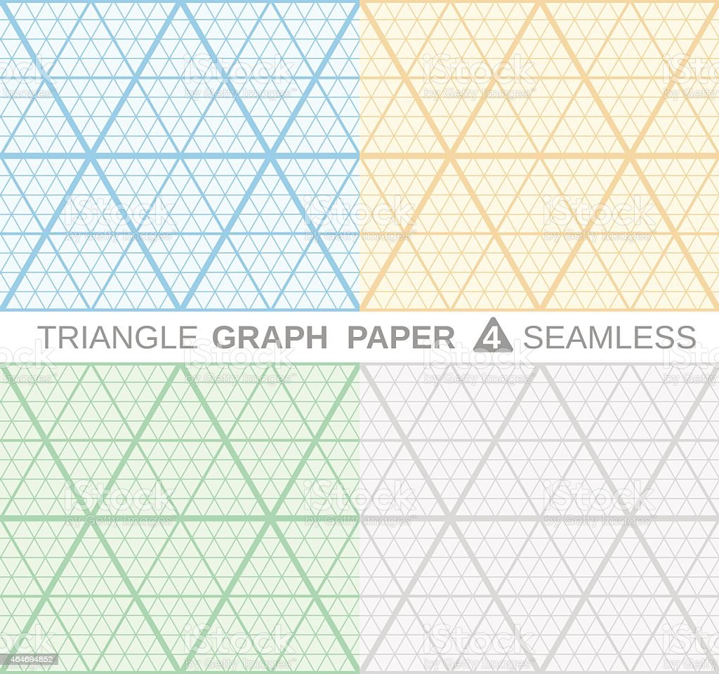 Triangle Graph Paper stock vector art 464694852 – Triangular Graph Paper