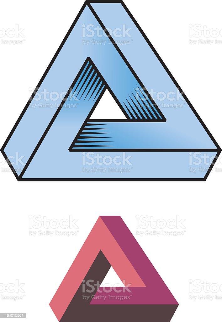 Triangle illusion vector art illustration
