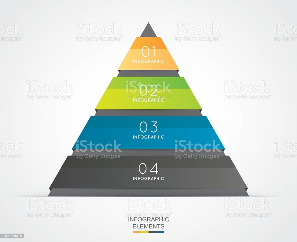 Triangle infographic for business project vector art illustration
