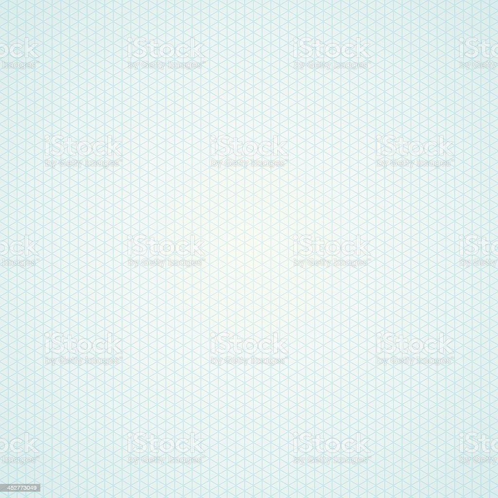 Triangle light blue graph paper background vector art illustration