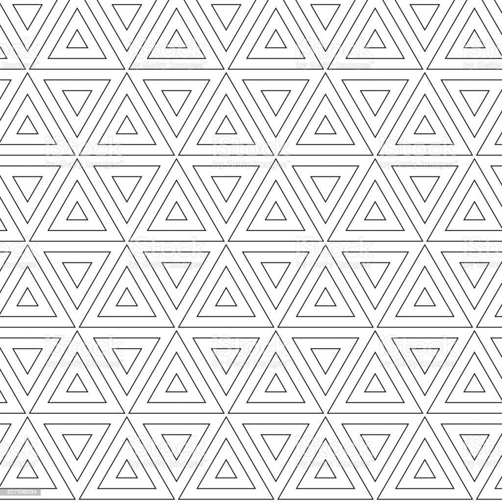 triangle seamless pattern vector art illustration
