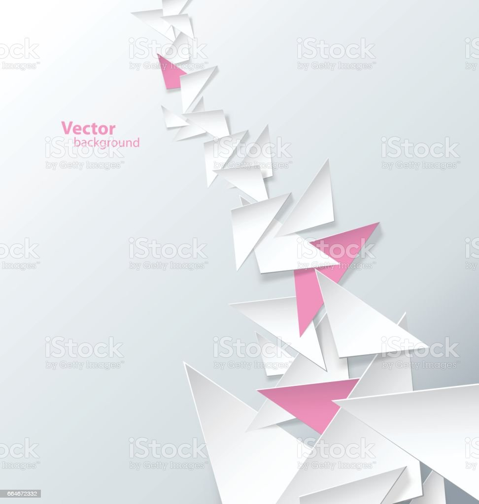 Triangle sign abstract background wallpaper. vector art illustration
