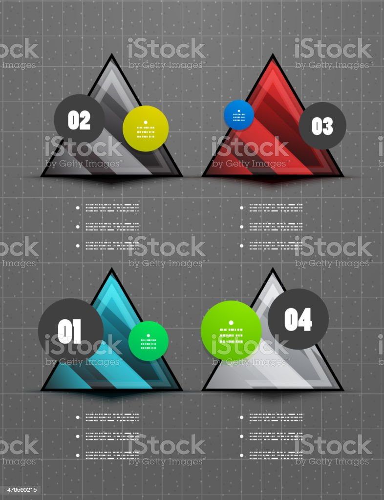 Triangles geometric infographic background royalty-free stock vector art