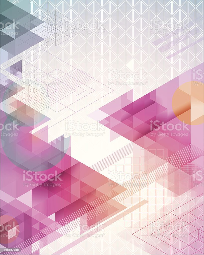 Triangles in the Abstract royalty-free stock vector art