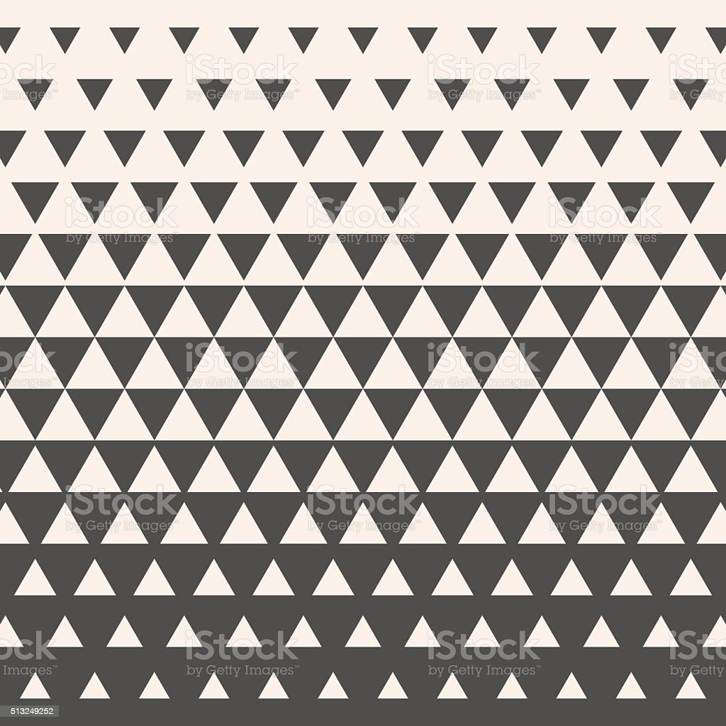 Triangles. Vintage HalfTone Gradient Geometric Background. Vecto vector art illustration