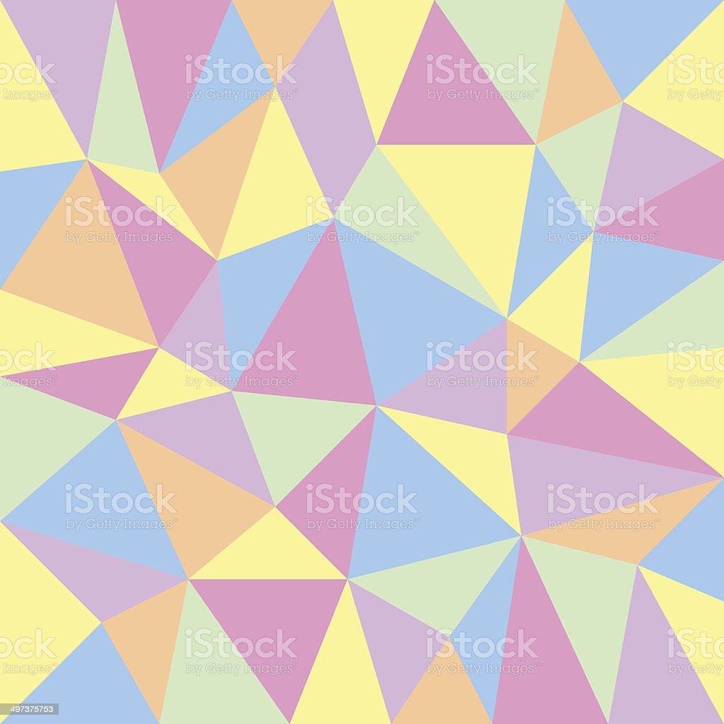 triangular pastel background vector art illustration