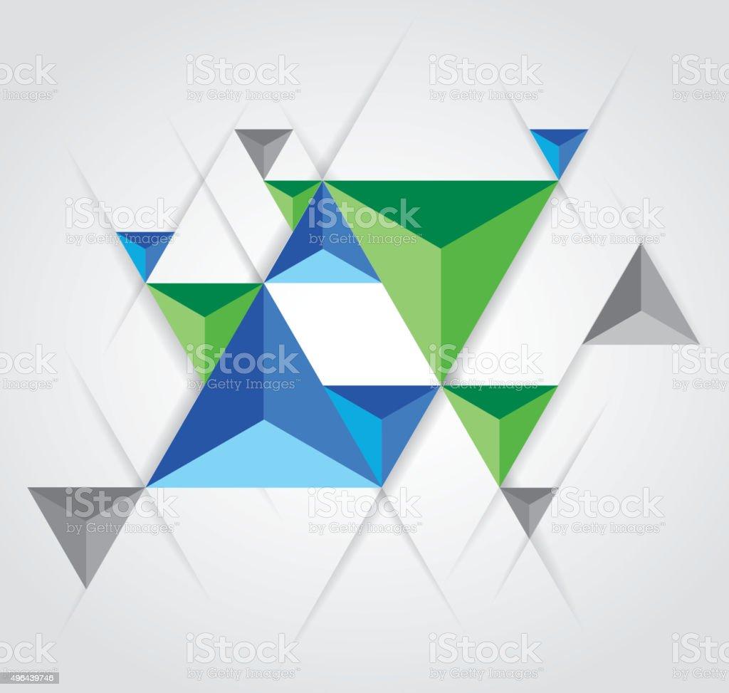 triangular pyramid background vector art illustration