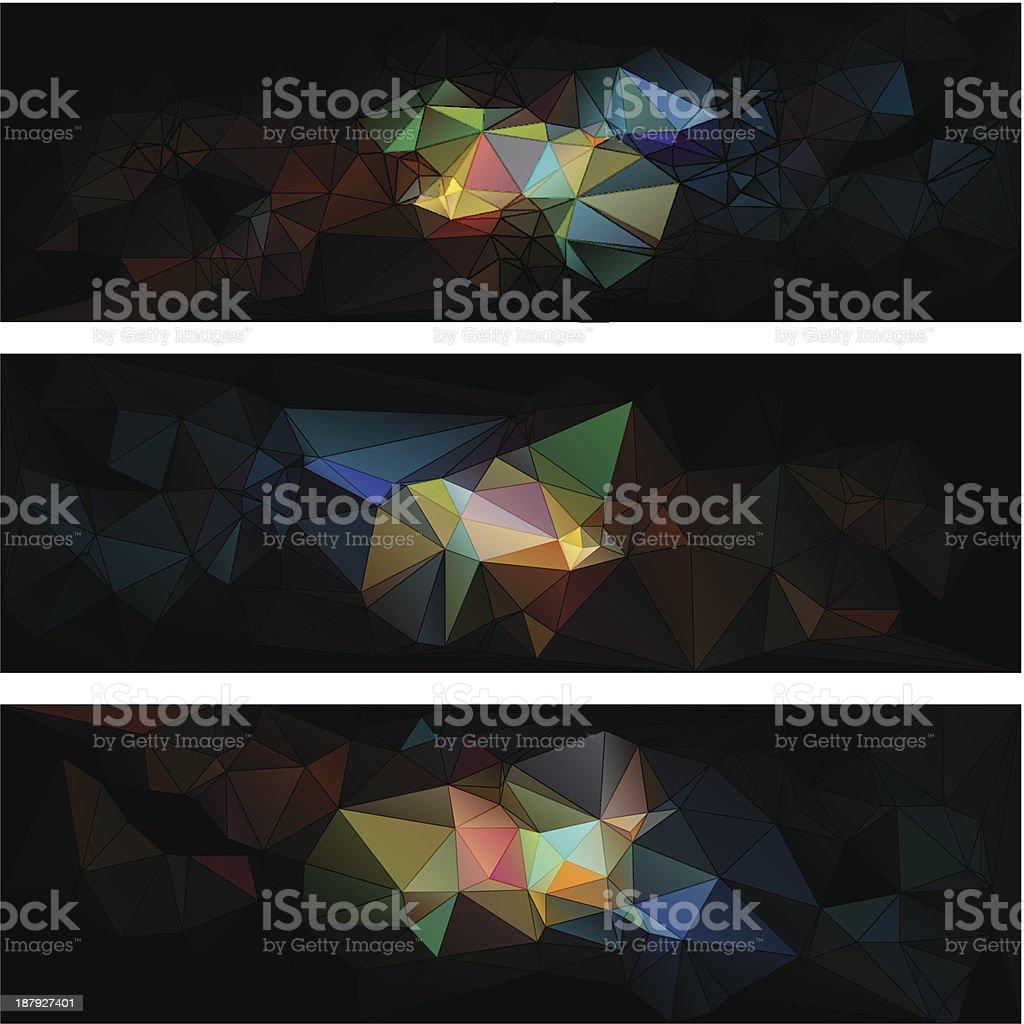 triangular estilo Fundo abstrato de triângulos vetor e ilustração royalty-free royalty-free