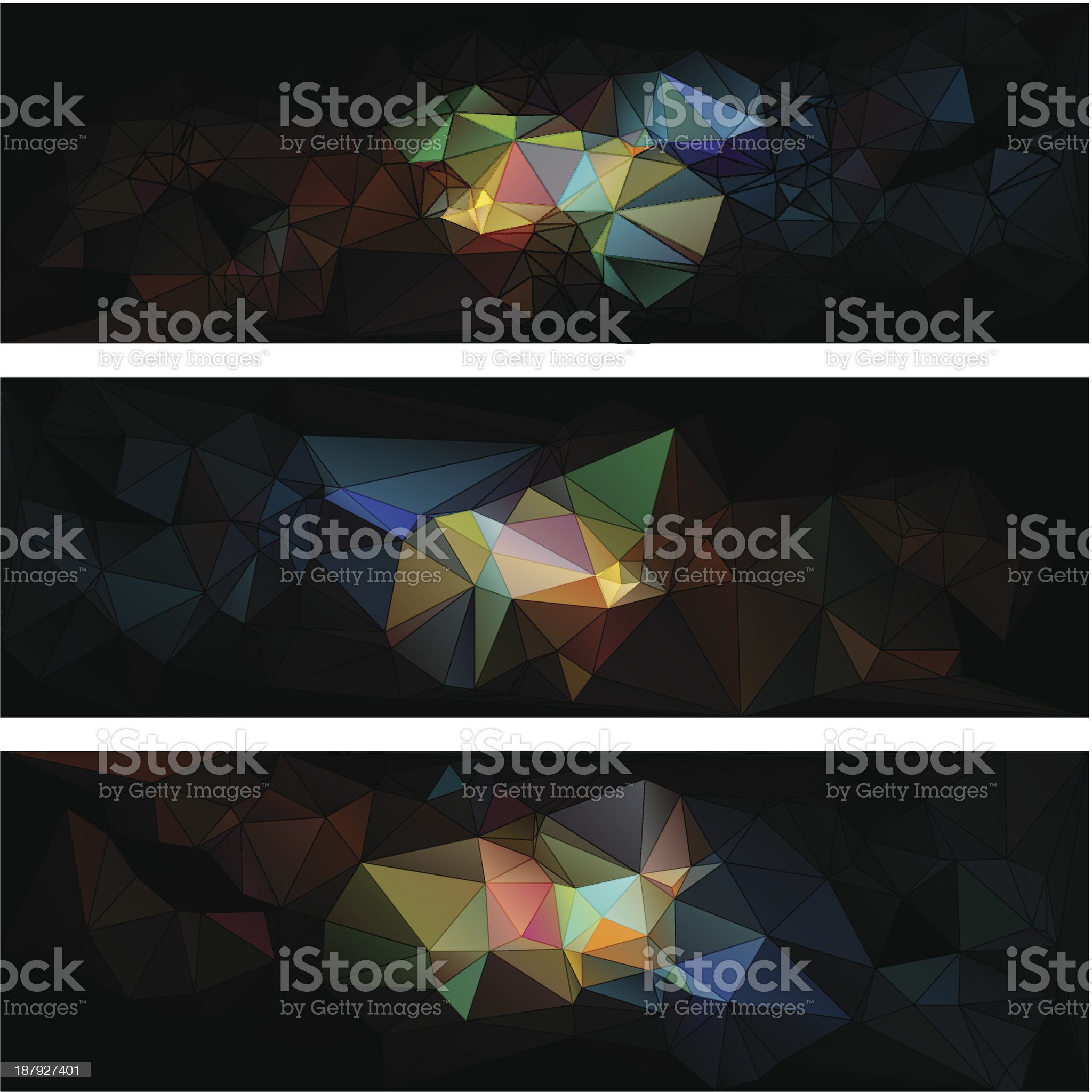 triangular style abstract background of triangles royalty-free stock vector art
