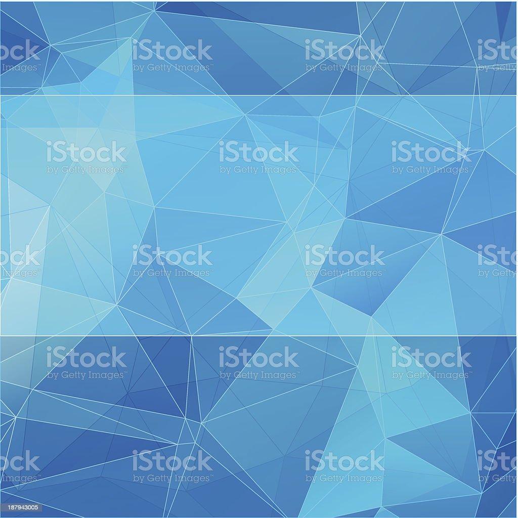 triangular estilo de Fundo abstrato azul vetor e ilustração royalty-free royalty-free