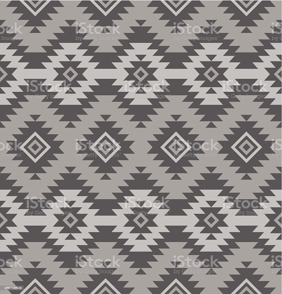 Triangular tribal pattern in gray tones royalty-free stock vector art
