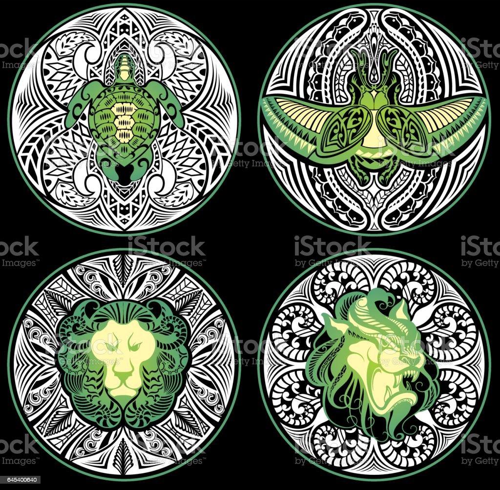 Tribal Amulet vector art illustration