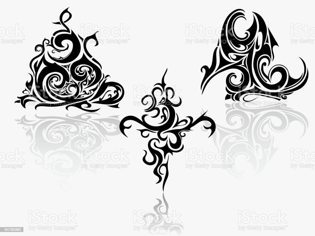 Tribal art collection royalty-free stock vector art