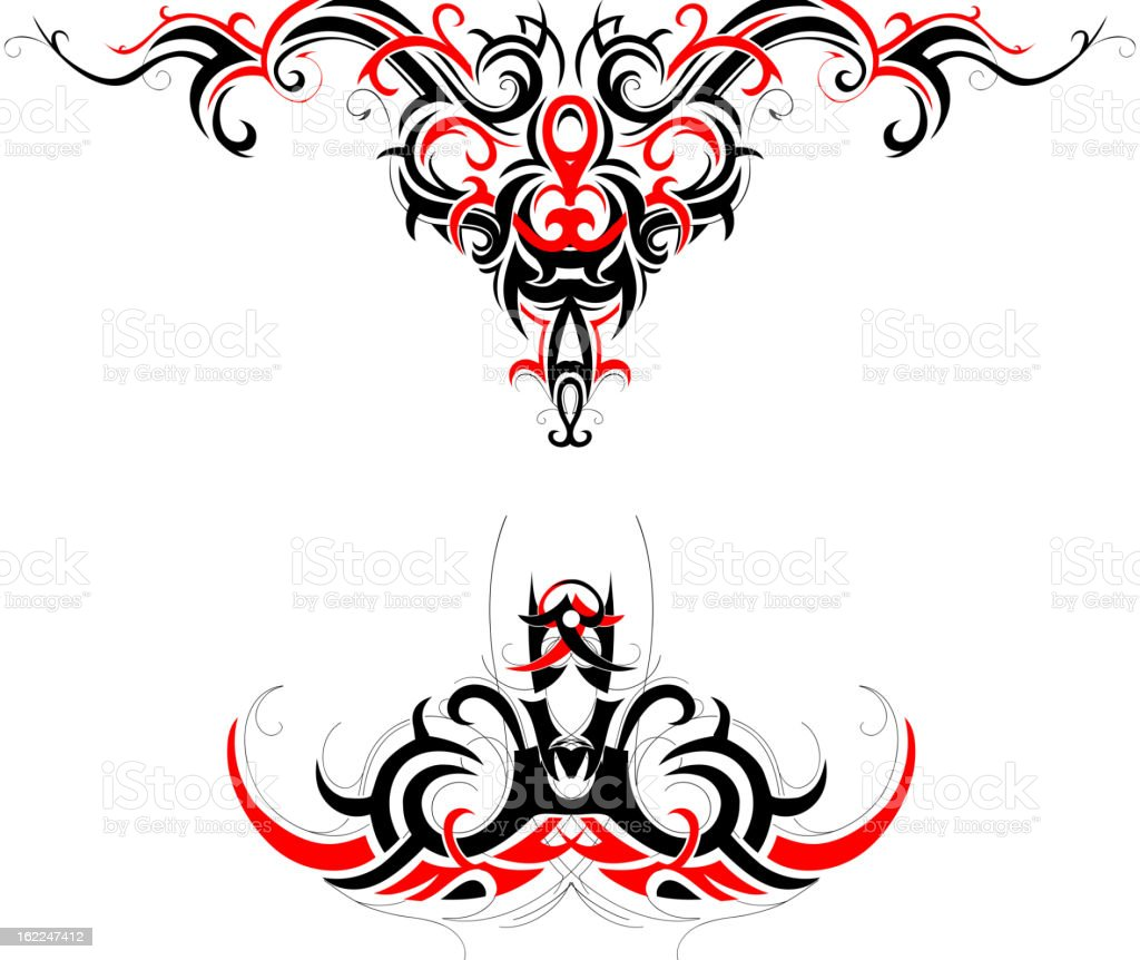 Tribal art design royalty-free stock vector art